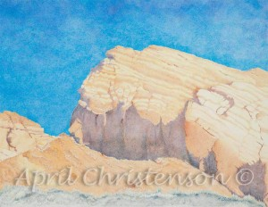 Valley of Fire colored pencil drawing by April Christenson