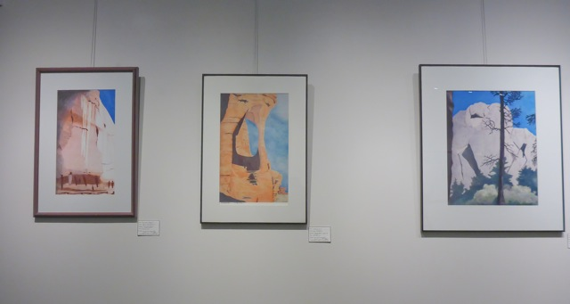 April Christenson's work on display at the Louisville Library